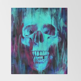 Calavera Painted Throw Blanket
