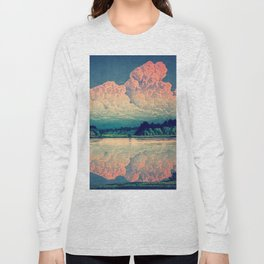 Admiring the Clouds in Kono Long Sleeve T-shirt