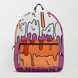 Pastel Kawaii Melting Lesbian Pride LGBTQ Design Backpack