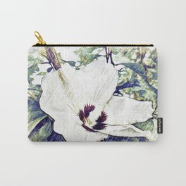 The Art Of A Hibiscus Flower Carry-All Pouch