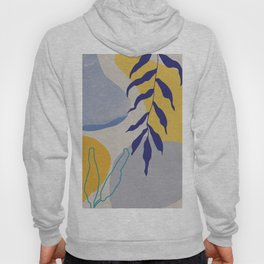 Nature shapes and plants in blue II Hoody