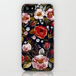 Vintage & Shabby Chic - Country Floral iPhone Case