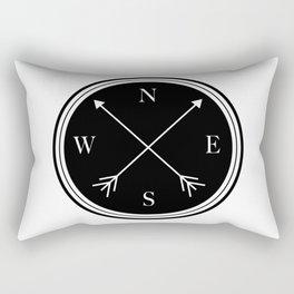 Directions \\ Abstract Compass Design Rectangular Pillow