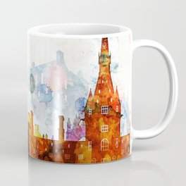 Edinburgh Watercolor Skyline Coffee Mug