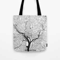 Washington Map Gray Tote Bag