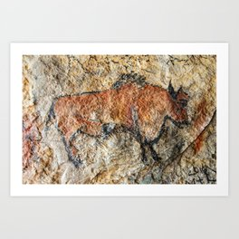 Cave painting in prehistoric style Art Print