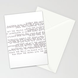 random words and words Stationery Cards