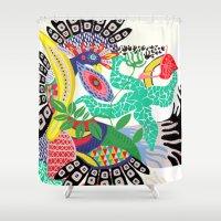 rio de janeiro Shower Curtains featuring RIO DE JANEIRO 001 by Maca Salazar