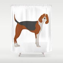 English Foxhound Shower Curtain