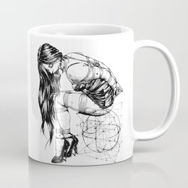 BDSM Bondage Girl, Shibari Art, Rope Bunnie, Kinky, Fetish, Submissive, Bondage Coffee Mug