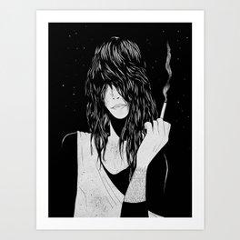 Smokey Chick Art Print