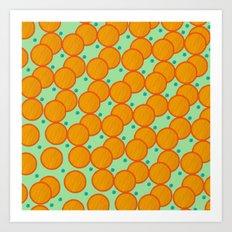 Orange Circle Art Print