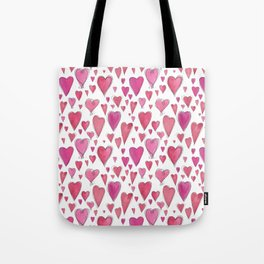 Watercolor My Heart (Small) by Deirdre J Designs Tote Bag