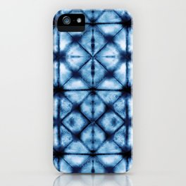 Shibori Paper Blues iPhone Case