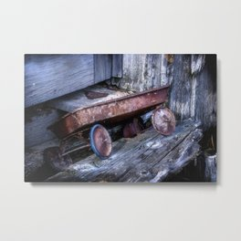 Left and Forgotten a little red wagon Metal Print
