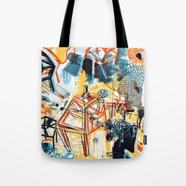 yellowredblueandblack Tote Bag