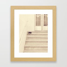 Rest your feet Framed Art Print