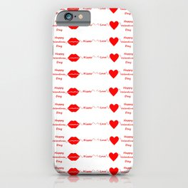 Love And Kisses - Happy Valentines Day iPhone Case