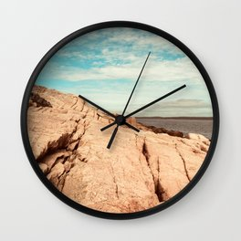 Between Earth and Sky - Travel photography - New England landscape - Maine coast Wall Clock