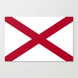 Flag of Alabama-Alabaman,south,birmingham,Montgomery,Jazz,blues,countryside,bible belt,cotton,usa,us Canvas Print