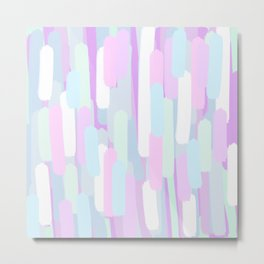 Unicorn Pastel Brush Strokes Metal Print