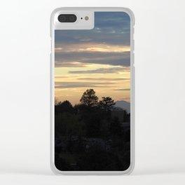 Albuquerque Sunset Silhouette Clear iPhone Case