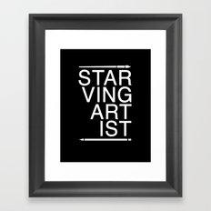 Starving Artist Framed Art Print