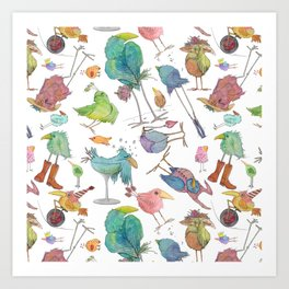 What The Flock  Art Print