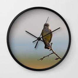 Perched Western Kingbird Wall Clock