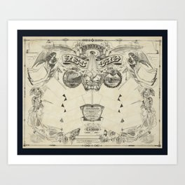 Antique Family Tree Art Print