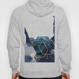 Abstract Landscape in Navy + Gold Hoody