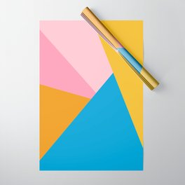 Cute Colorful Diagonal Color Blocking Wrapping Paper