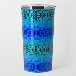 Retro India Lounge Pattern (tropical blue) Travel Mug
