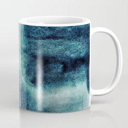 Watercolor deep marine blue art, ocean, water, sea, space Coffee Mug