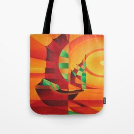 Cubist Junks on A Red Sea Tote Bag