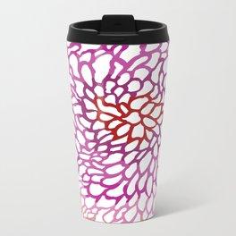 Pink abstract design Metal Travel Mug