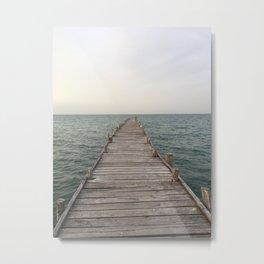 Dock in Cancun Metal Print