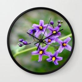 """""""Purple Beauty"""" Wall Clock"""