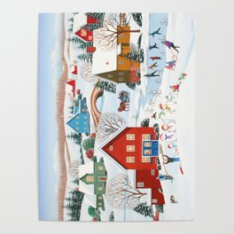 Snow Family Poster