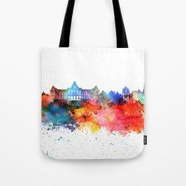 Groningen Colorful Drops Skyline Tote Bag