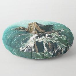 Island green sea Floor Pillow
