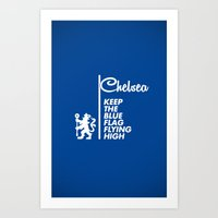 chelsea fc Art Prints featuring Chelsea Blue by Sport_Designs