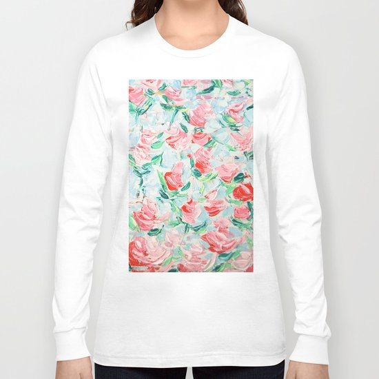 Pompidou Rose Garden Long Sleeve T-shirt