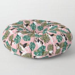 Tropical Treeing Walker Coonhounds 2 Floor Pillow