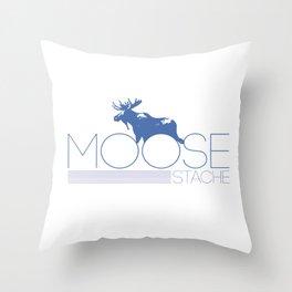 moose stache Throw Pillow