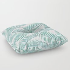 Palm Leaf Pattern Island Paradise Floor Pillow