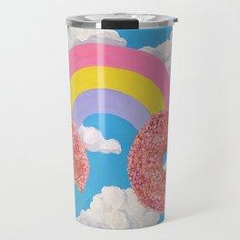 Donut Rainbow Travel Mug