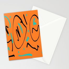 Ocre black blue Stationery Cards