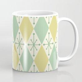Diamonds and Starbursts Mint Coffee Mug