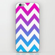 PINK & TEAL CHEVRON FADE iPhone & iPod Skin